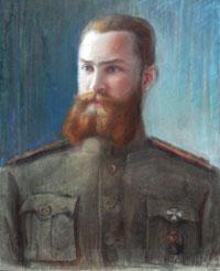 Портрет Е. А. Волошинова. Неизвестный художник. Начало ХХ века. Из фондов НМИДК