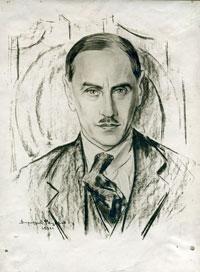 Портрет А. П. Молявко-Высоцкого работы художника Д. Фёдорова. 1932 г.
