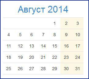 Знаменательные даты августа 2014 года