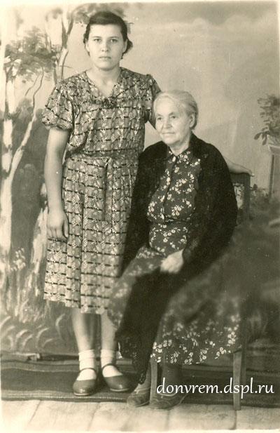 Людмила с бабушкой Агафьей