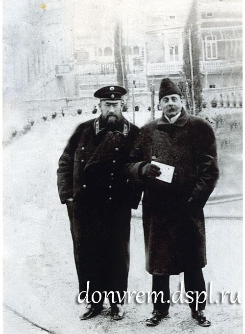 М. Н. Сарандинаки, Л. Н. Папарупа, зам. пред. земской управы. Феодосия, начало ХХ века