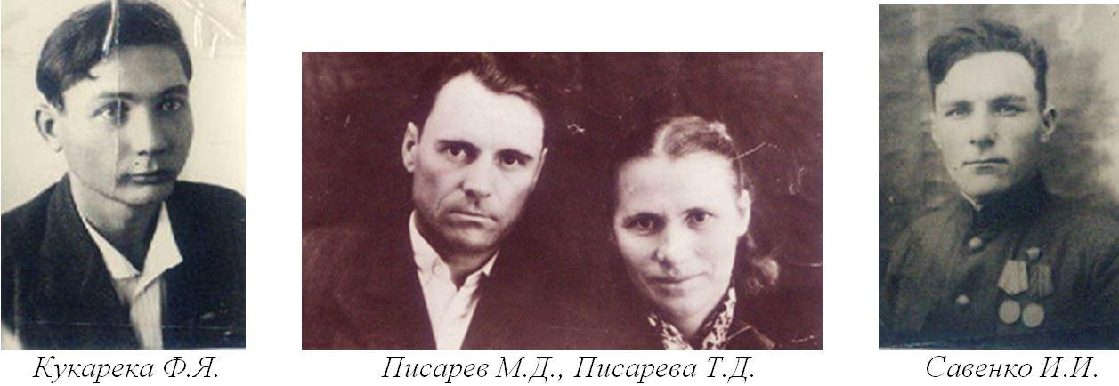 Кукарека Ф.Я., Писарев М.Д., Писарева Т.Д., Савенко И.И.