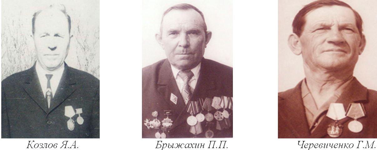 Козлов Я.А., Брыжахин П.П., Черевиченко Г.М.